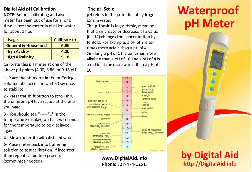 pH Meter Flyer page 1